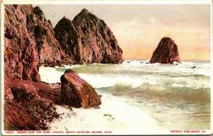 Vtg Tarjeta Postal 1910 Azúcar Loaf And Surf - Santa CATALINA Isla California