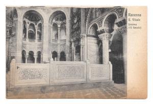 Italy Ravenna Basilica S Vitale Byzantine Church Interior Vtg Postcard