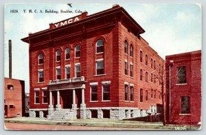 Boulder Colorado~YMCA Building~Large Brick Building~1912 Postcard