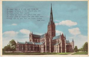 Post Card Wiltshire Salisbury Cathedral Valentine's