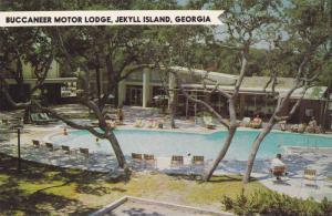 Swimming Pool, Bucaneer Motor Lodge, Jekyll Island, Georgia, 1940-1960s