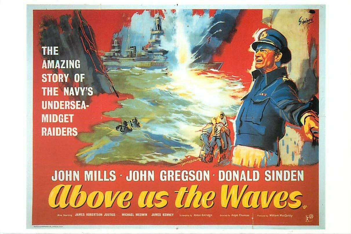 War Movie : Above Us the Waves 1955 ( Full Film )