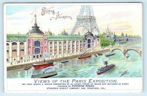 SF, CA ~ AD Card Shows 1900 PARIS EXPO Scene Building of Navigation Postcard