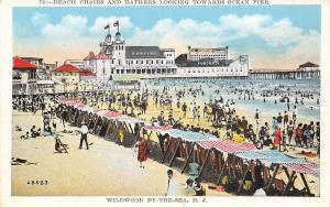 Wildwood by the Sea New Jersey~Beach Chairs & bathers~Dancing~Fun Chase~1920s