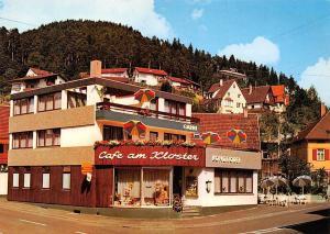 Klosterstadt Alpirsbach Cafe am Kloster Konditorei Liegeterrasse