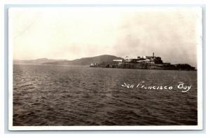 Postcard Alcatraz Island in San Francisco Bay, CA 1917-1930 RPPC I20