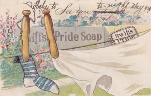 ADV; Swift's Pride Soap, Sock and sheet on clothes line, PU-1905