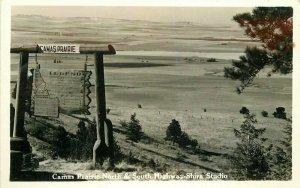 Camas Prairie North South Highway Shira Studios 1940s RPPC Idaho Postcard 7927