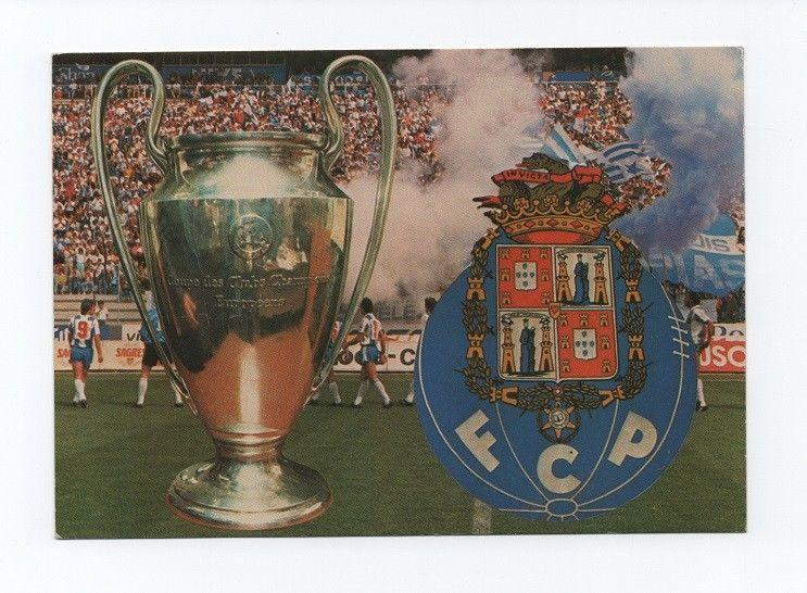 PORTUGAL Postcard year 1987 SOCCER STADIUM FCP PORTO EUROPE CHAMPION FOOTBALL