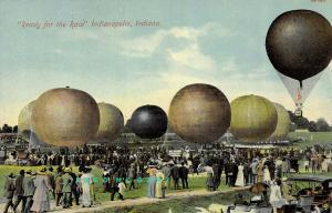 1909 Indianapolis Indiana Postcard: 8 Balloons Entered in Indy's First-Ever Race