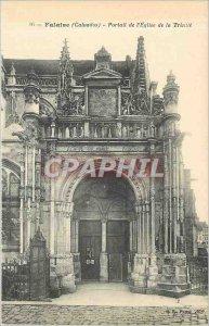 Old Postcard Falaise Calvados Church Portal Trinite