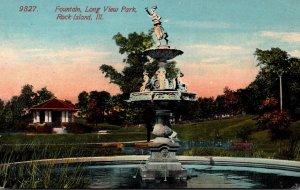 Illinois Rock Island Long View Park Fountain