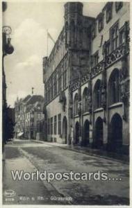 Gurzenich Germany, Deutschland Postcard Koln a Rh Gurzenich Koln a Rh