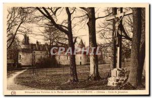 Old Postcard Monument of Victory of the Marne and ossuary Dormans Chateau Cro...
