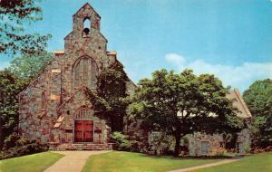 TN, Tennessee  CHURCH ATOP LOOKOUT MOUNTAIN  Beautiful Stone  Chrome Postcard
