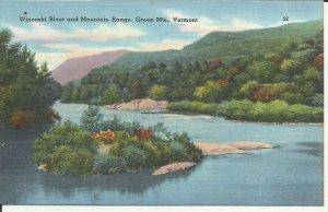 Green Mts., Vermont, Winooski River And Mountain Range