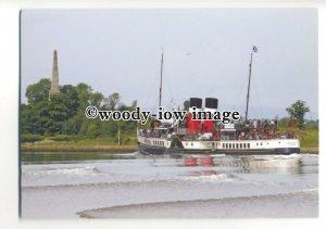 FE1898 - UK Paddle Steamer - Waverley , built 1947 near Bowling - postcard
