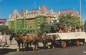 Horse and Carriage Sight Seeing Tally-Ho Empress Hotel Victoria British Columbia