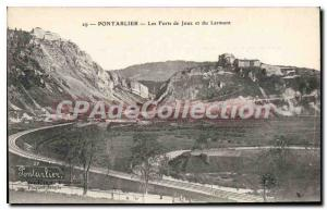 Old Postcard Pontarlier Les Forts De Joux And The Larmont