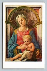 National Gallery Of Art, Madonna & Child Painting, Fra Lippi Chrome Postcard
