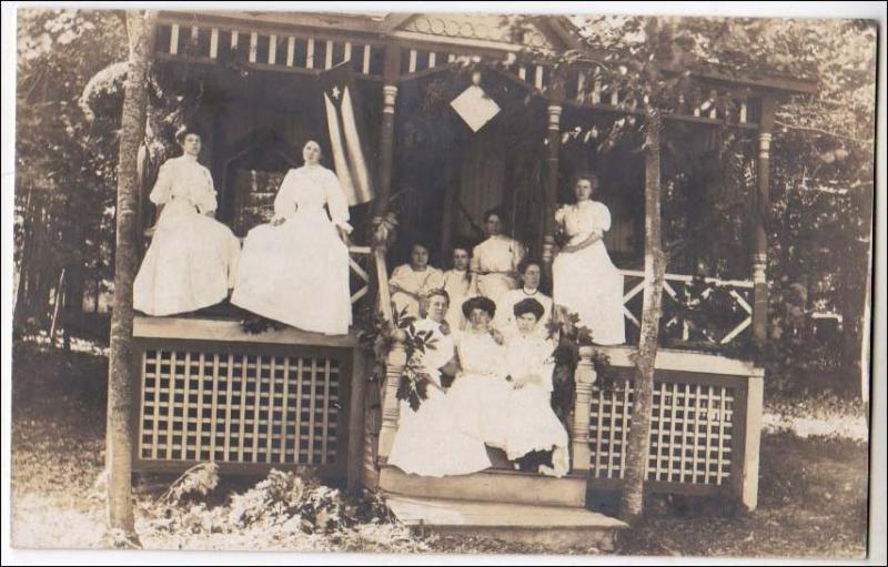 RPPC, Group of Ladies in White