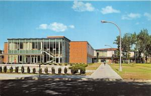 Marquette MI~Northern Michigan University-Don Bottum Center~Lady Walking~1960s