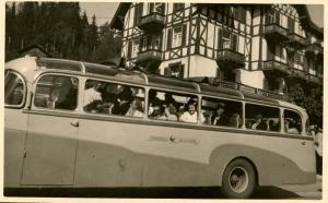 Sightseeing Bus in Europe  *RPPC (Photo, not a postcard)
