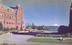 Seattle Washington~University Of Washington~1960 Postcard