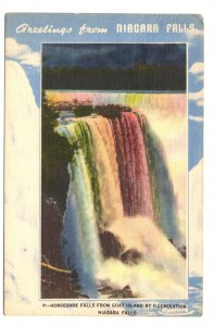 Horseshoe Falls Greetings from, Niagara Falls, Ontario, Used