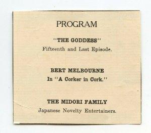 Program The Goddess The Midori Family Vintage Paper Advertisement