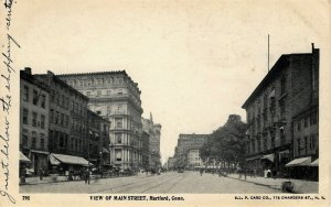 Hartford, Connecticut - Downtown on Main Street - c1905