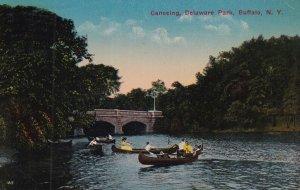BUFFALO, New York, PU-1915; Canoeing, Delaware Park
