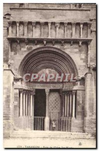 Old Postcard Door of the Church Ste Marthe Tarascon