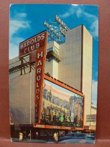 Old Postcard Harolds Club Casino  Reno, NV