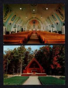 PQ Lot 2 Sacred Heart Shrine BEAUVOIR QUEBEC Postcards QC Carte Postale