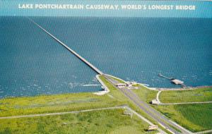 Lake Pontchartrain Causeway World's Longest Bridge New Orleans Louisiana