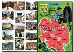 Postcard Modern tourist Dual Card HOLLOW ON