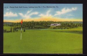 Virginia Postcard Forest Park Golf Course Martinsville