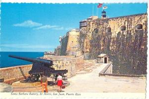 Santa Barbara Battery, El Morro, San Juan, Puerto Rico, unused Postcard
