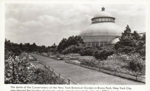 RP: BRONX PARK , New York, 30-40s; Dome of Conservatory at NY Botanical Garden