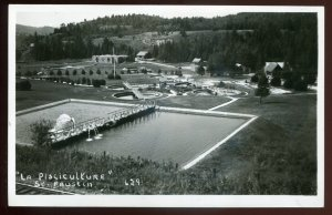 dc1266 - ST. FAUSTIN Quebec 1950s Pisciculture. Real Photo Postcard by Cote