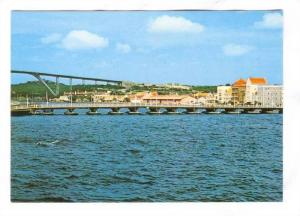 Curacao , Neth. Ant., Harbour Entrance with Queen Emma (Pontoon) & Queen Juli...