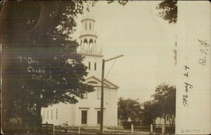 DeRuyter NY 7th Day Church c1905 Real Photo Postcard