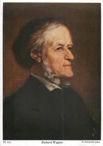 Richard Wagner composer portrait - A. Hermann
