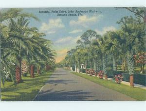 Unused Linen STREET SCENE Ormond Beach Florida FL G4871