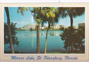 Florida St Petersburg Skyline and Mirror Lake