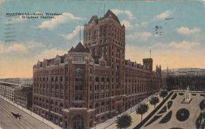 Aerial view,  The Windsor Station,  Gare Windsor,  Montreal,  Quebec,  Canada...