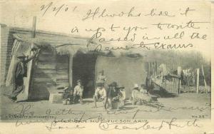 Corbett Mexican Hut Tucson Arizona 1908 Postcard undivided 5650