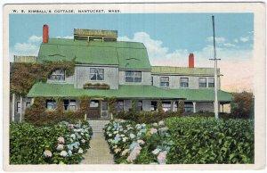 Nantucket, Mass, W. S. Kimball's Cottage