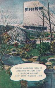 New York World's Fair 1939 Typical American Farm At Firestone Factory and Exh...